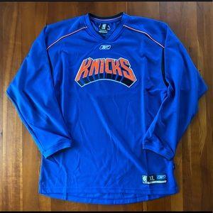 Reebok New York Knicks Team Issue Pullover XLT
